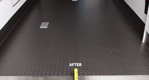 Remounted ambulance flooring - after