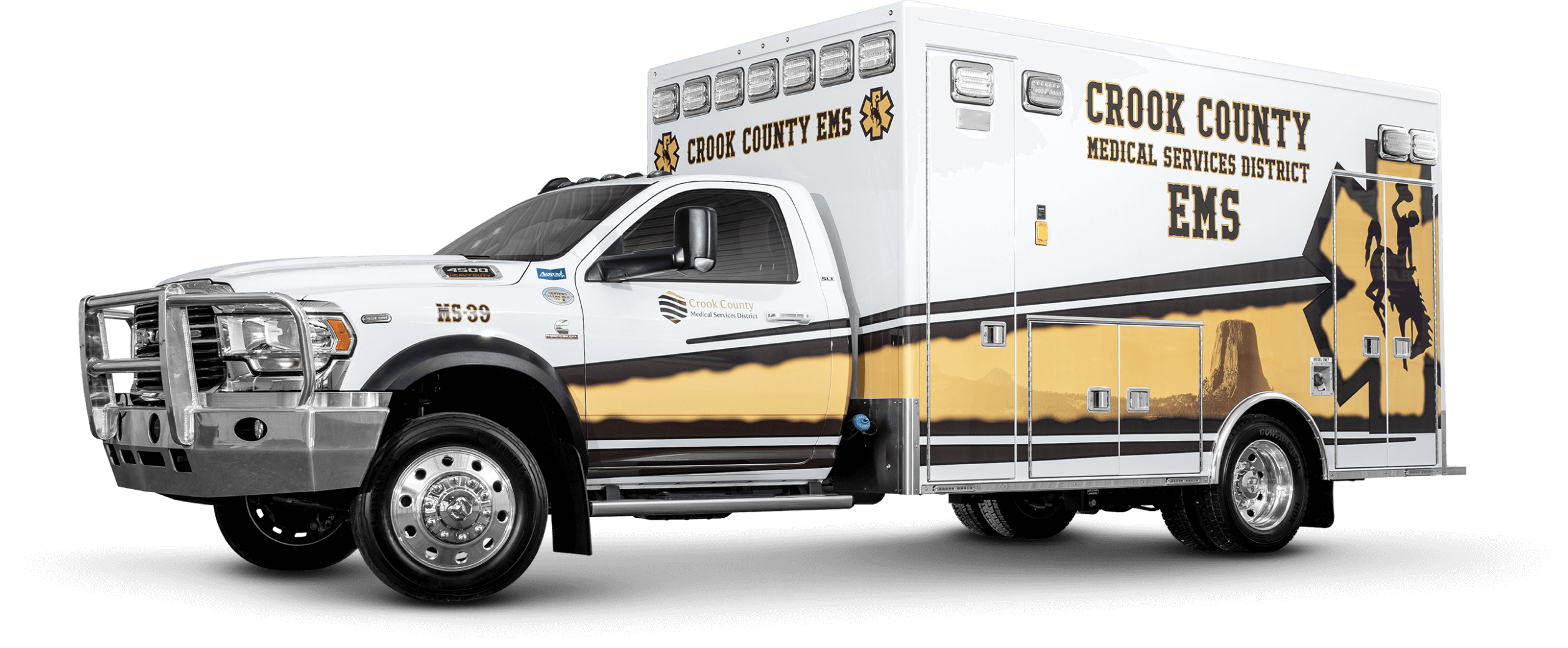 Driver Side View of Crook County Ambulance
