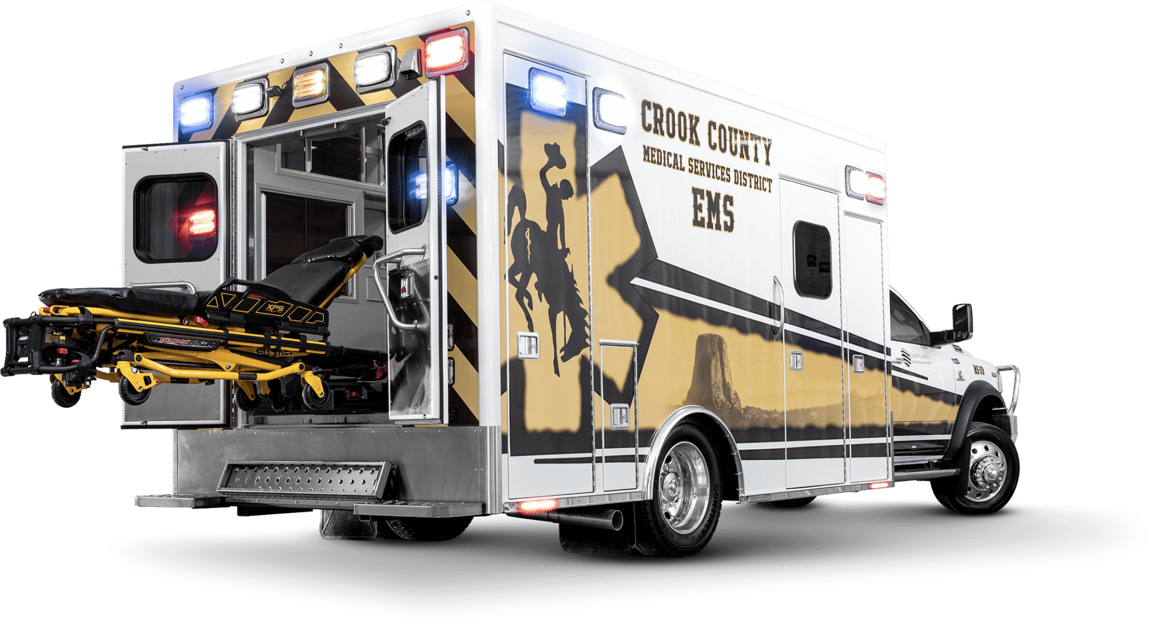 Rear View of Crook County Ambulance