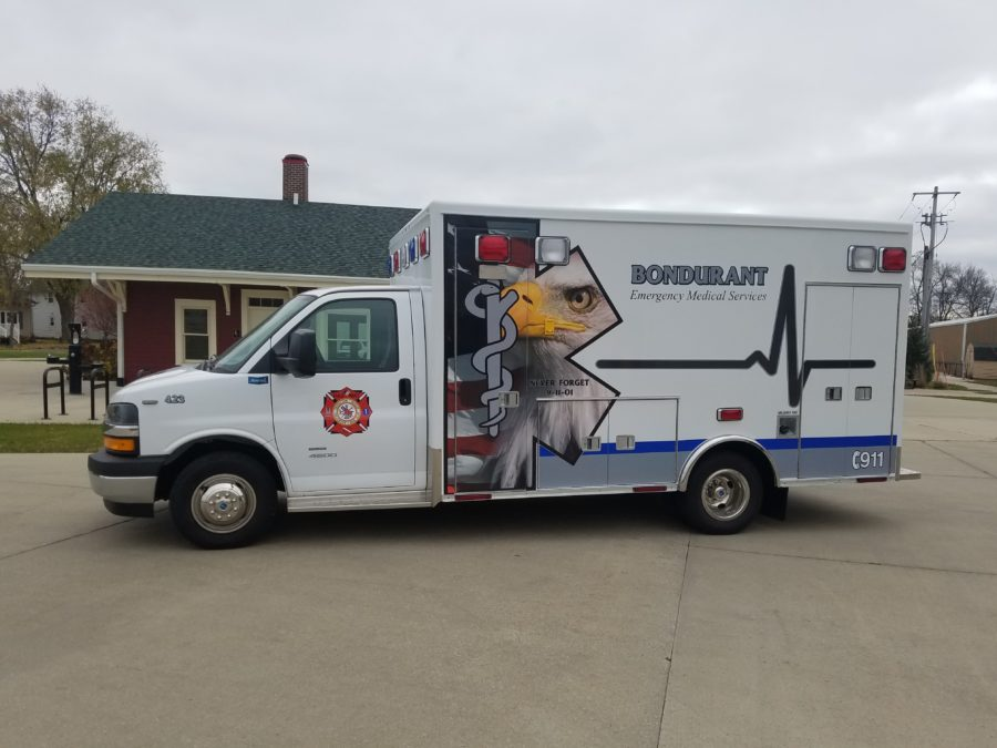 2018 Chevrolet C4500 Type 3 Ambulance delivered to Bondurant Emergency Services in Bondurant, IA