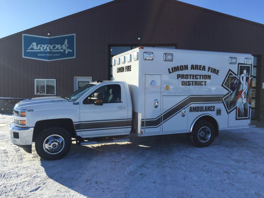 2019 Chevrolet K3500 Type 1 4x4 Ambulance delivered to Limon Fire & Rescue in Limon, CO