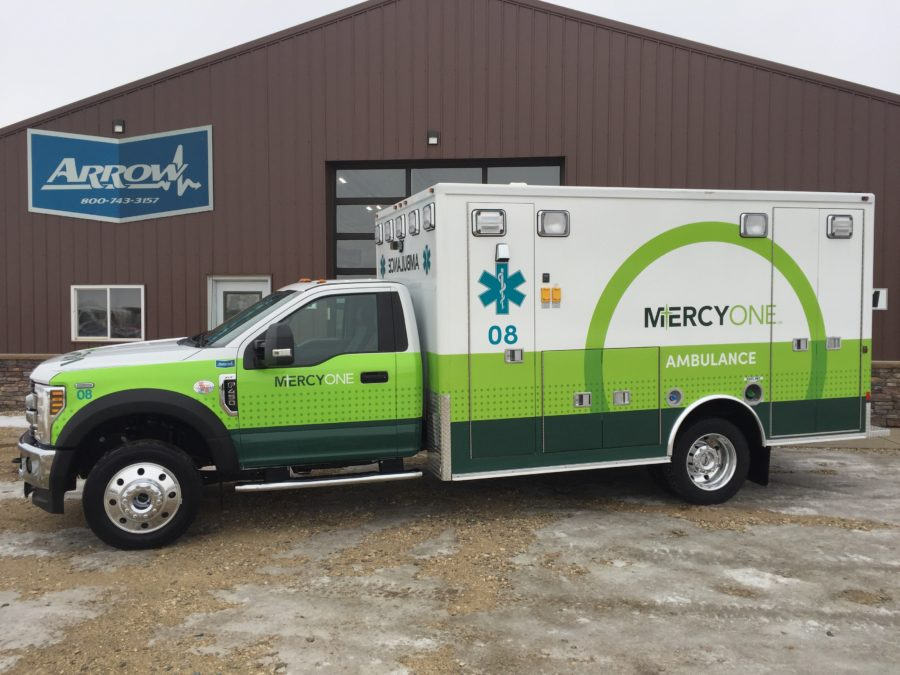 2019 Ford F450 Heavy Duty 4x4 Ambulance delivered to MercyOne NE Iowa in Waterloo, IA