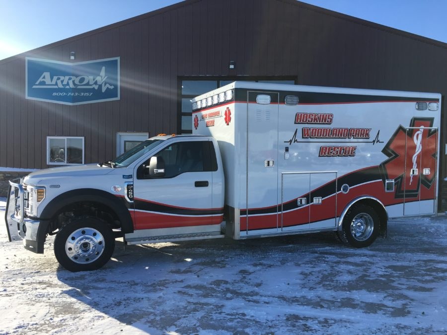 2019 Ford F450 Heavy Duty 4x4 Ambulance delivered to Hoskins/Woodland Park Rescue in Hoskins, NE