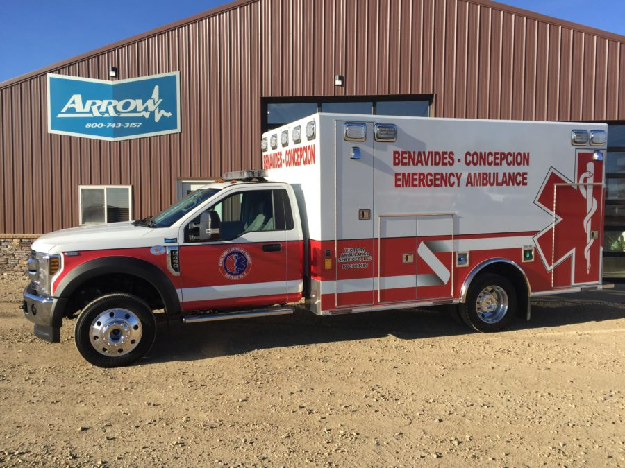 2019 Ford F450 Heavy Duty 4x4 Ambulance delivered to Duval County Emergency Service District in Benavides, TX
