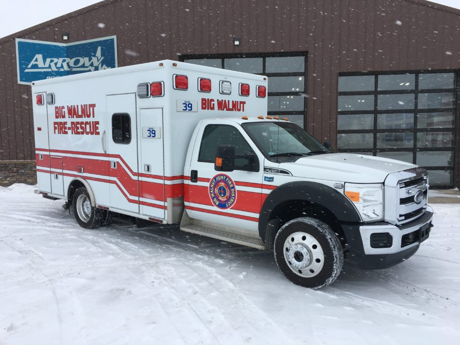 2015 Ford F450 Heavy Duty 4x4 Ambulance delivered to Big Walnut Joint Fire District in Chesterville, OH