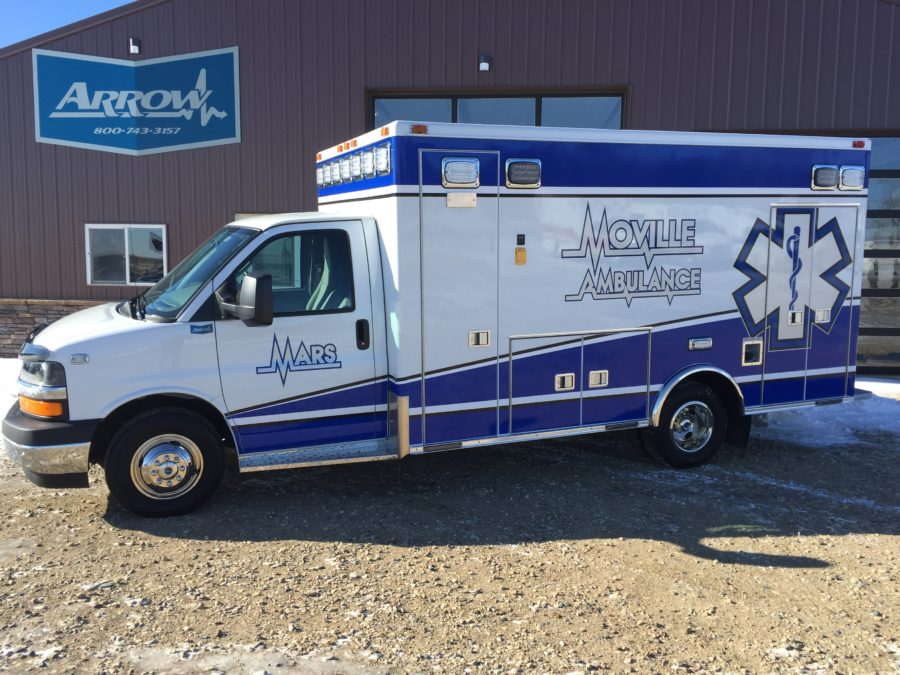 2017 Chevrolet G4500 Type 3 Ambulance delivered to Moville Ambulance in Moville, IA
