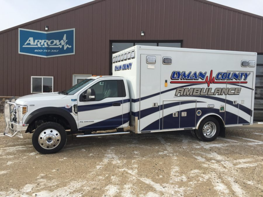 Ambulance delivered to Lyman County Ambulance District