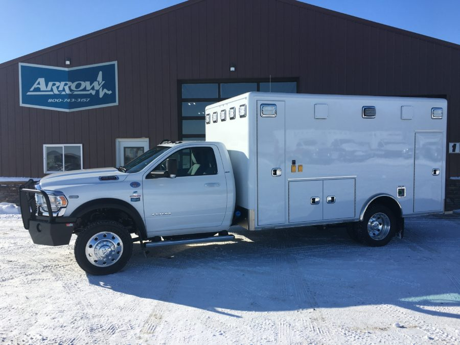 2019 Ram 4500 Heavy Duty 4x4 Ambulance delivered to Lead-Deadwood Ambulance in Deadwood, SD