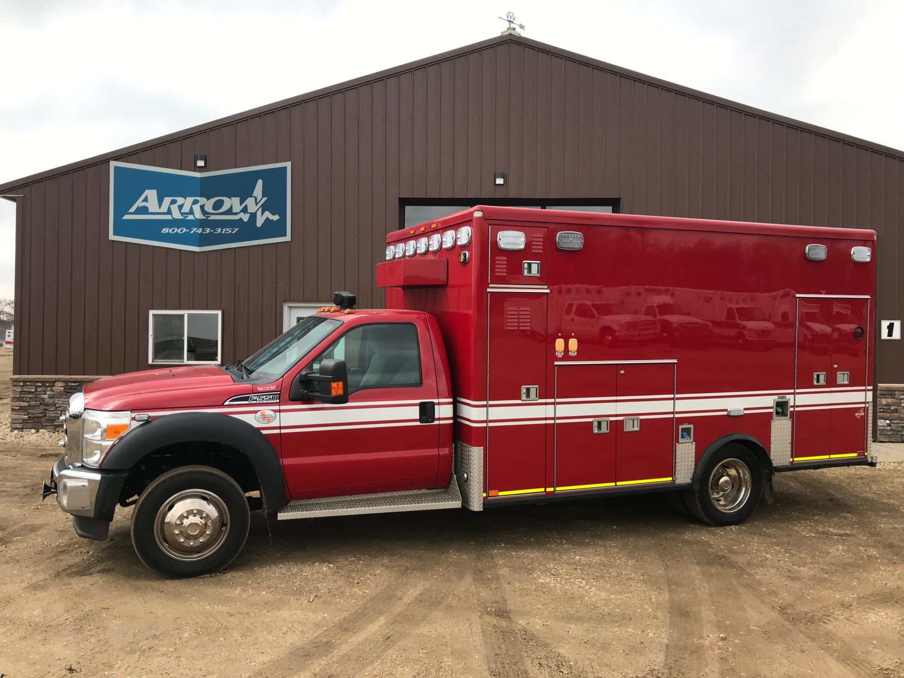 2012 Ford F550 4x4 Type 1 Ambulance For Sale – Picture 1