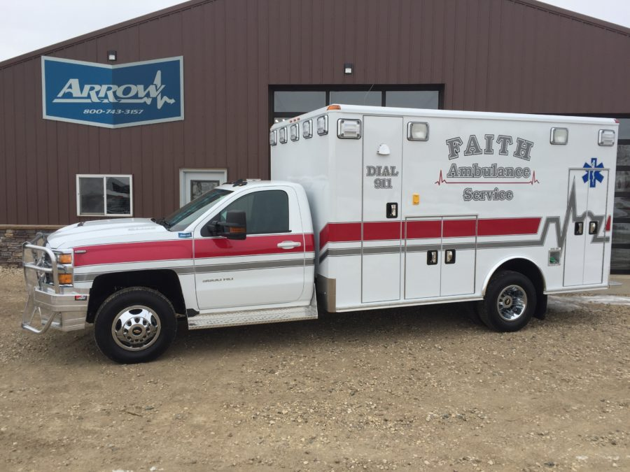 2018 Chevrolet K3500 Type 3 4x4 Ambulance delivered to Faith, SD Ambulance in Faith, SD