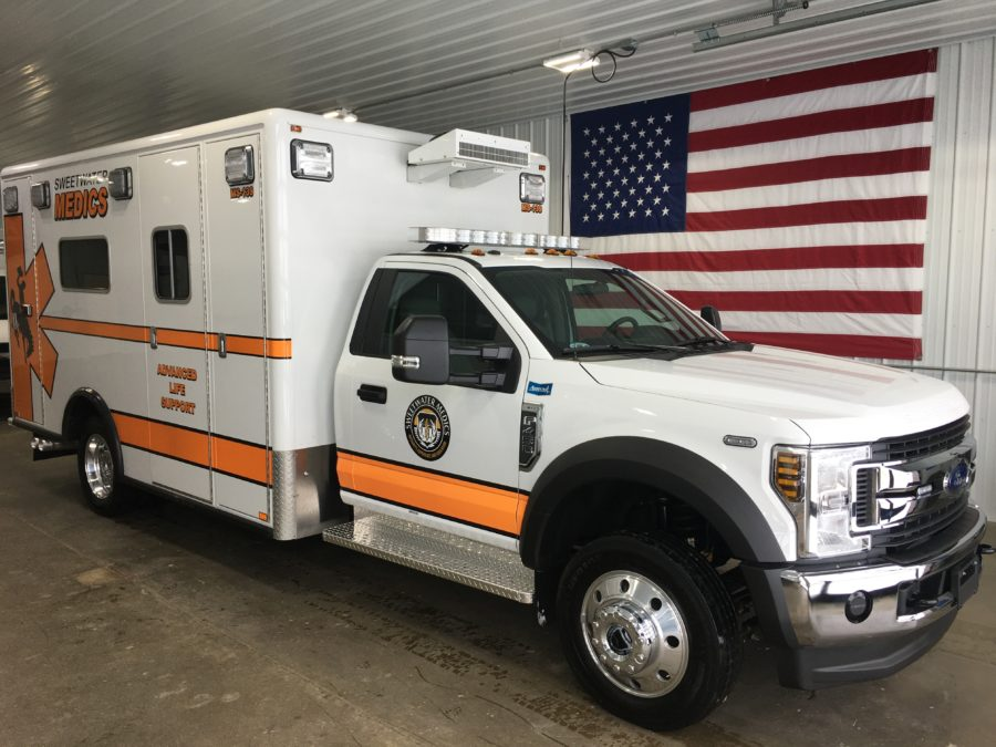 2019 Ford F450 Heavy Duty 4x4 Ambulance delivered to Sweetwater Medics, LLC in Rock Springs, WY