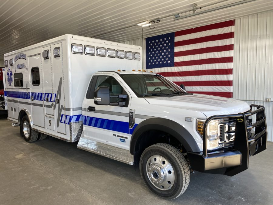 Ambulance delivered to Crow Creek Sioux Ambulance