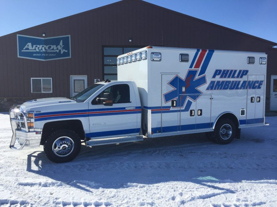 2018 Chevrolet K3500 Type 3 4x4 Ambulance delivered to Philip Ambulance in Philip, SD
