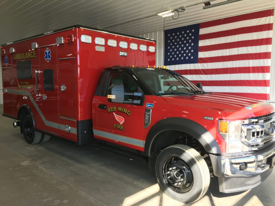 2020 Ford F550 Heavy Duty 4x4 Ambulance delivered to Red Wing Fire Department in Red Wing, MN
