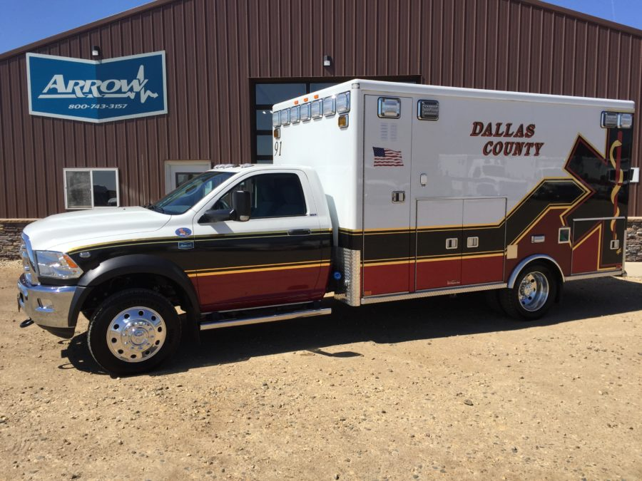 2017 Ram 4500 Heavy Duty 4x4 Ambulance delivered to Dallas County EMS in Perry, IA