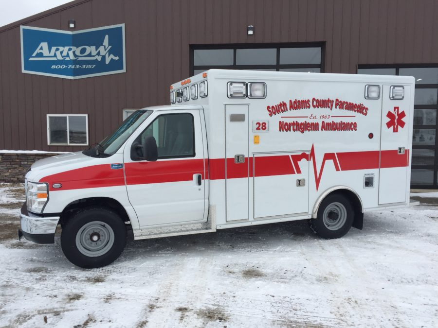 2018 Ford E350 Type 3 Ambulance delivered to Northglenn Ambulance in Northglenn, CO