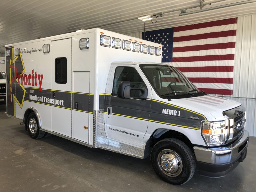 2022 Ford E450 Type 3 Ambulance delivered to Priority Medical Transport in North Platte, NE