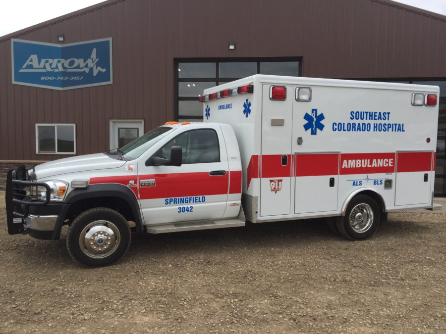 2010 Ram 4500 Heavy Duty 4x4 Ambulance delivered to Southeast Colorado Hospital Ambulance Service in Springfield, CO
