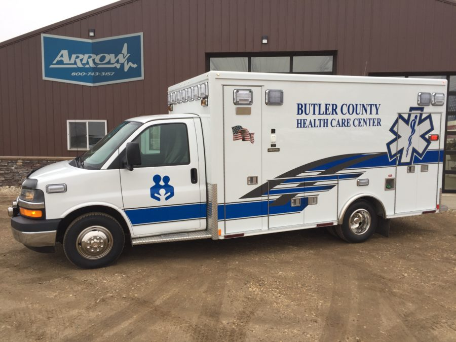 2010 Chevrolet G4500 Type 3 Ambulance delivered to Butler County Health Care Center in David City, NE
