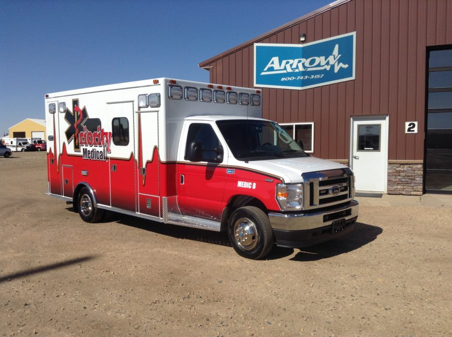 2021 Ford E450 Type 3 Ambulance delivered to Priority Medical Transport in North Platte, NE