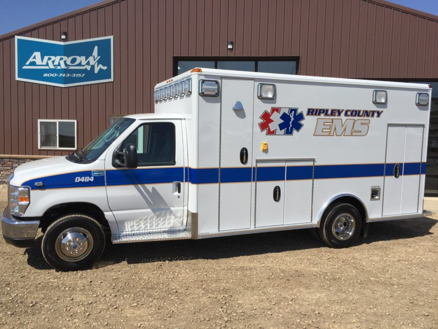 2017 Ford E450 Type 3 Ambulance delivered to Ripley County EMS in Osgood, IN