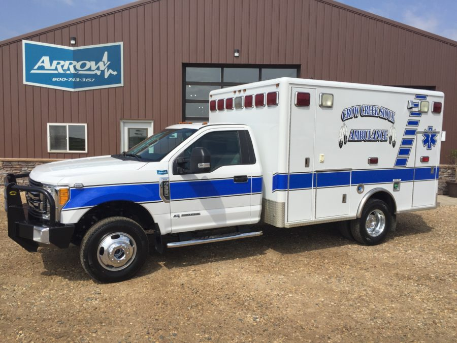 2017 Ford F350 Type 1 4x4 Ambulance delivered to Crow Creek Sioux Ambulance in Fort Thompson, SD