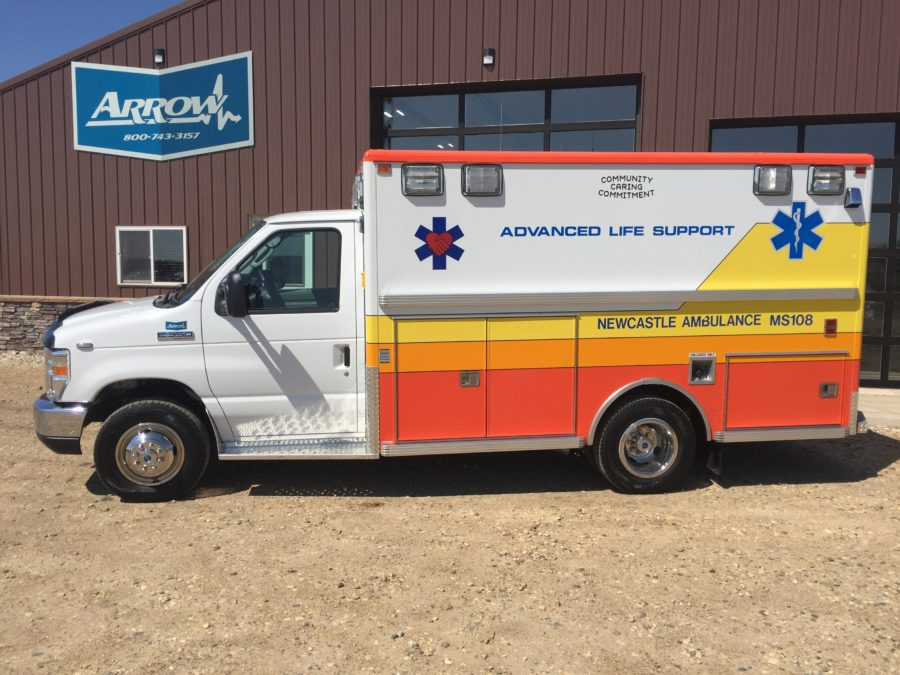 2018 Ford E350 Type 3 Ambulance delivered to Newcastle Ambulance in Newcastle, WY