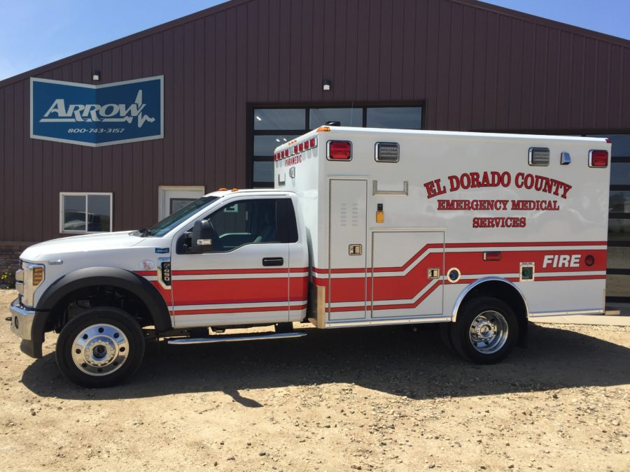 2019 Ford F450 Heavy Duty 4x4 Ambulance delivered to El Dorado County in Diamond Springs, CA