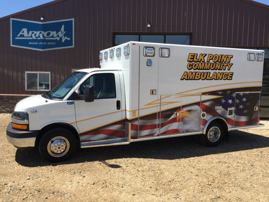2016 Chevrolet G4500 Type 3 Ambulance delivered to Elk Point Community Ambulance in Elk Point, SD