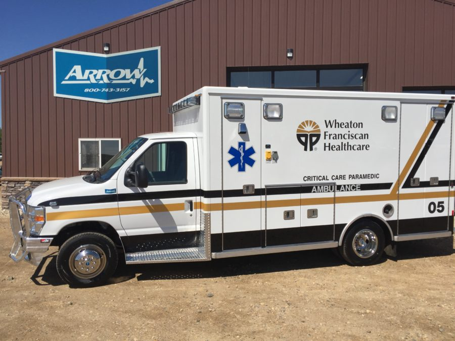 2017 Ford E450 Type 3 Ambulance delivered to Wheaton Franciscan Health Care in Waterloo, IA