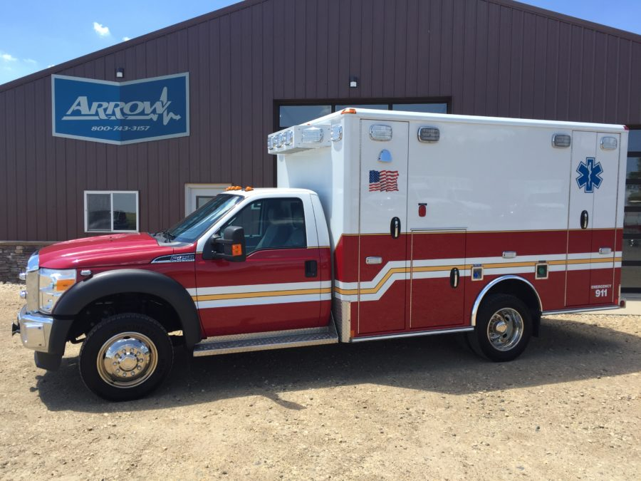 2015 Ford F450 Heavy Duty 4x4 Ambulance delivered to North Sioux City Fire Department in North Sioux City, SD