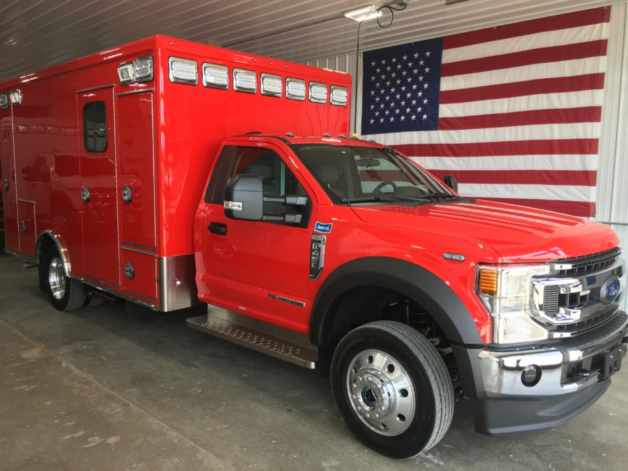 2020 Ford F450 Heavy Duty 4x4 Ambulance delivered to Black Forest Fire Rescue in Colorado Springs, CO