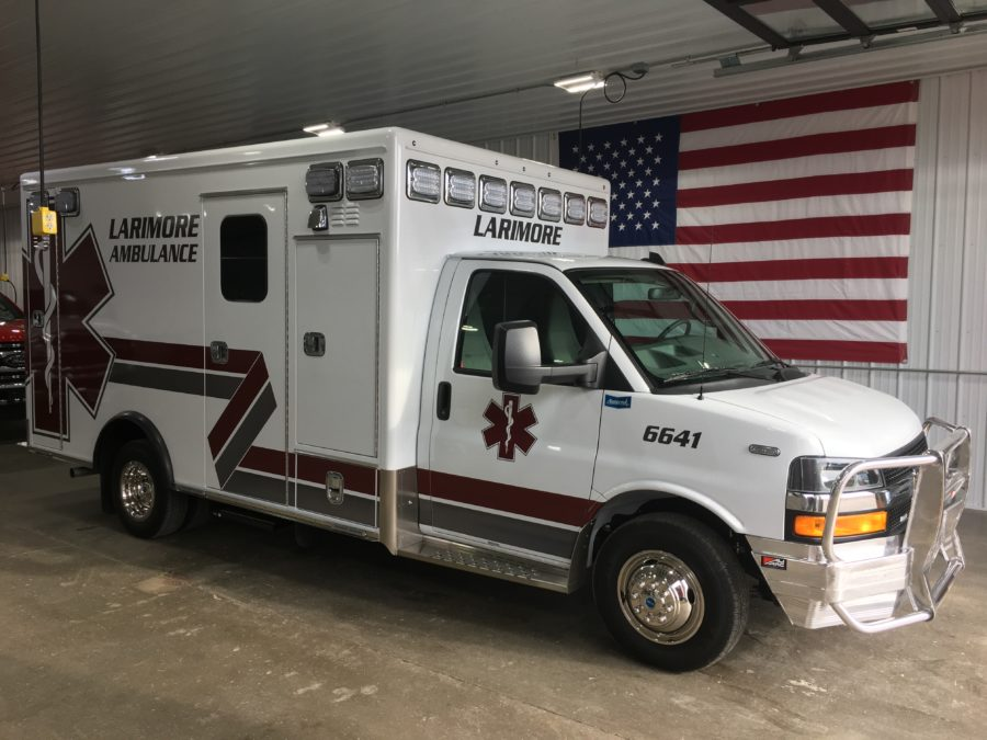 2020 Chevrolet G4500 Type 3 Ambulance delivered to Larimore Ambulance Service in Larimore, ND