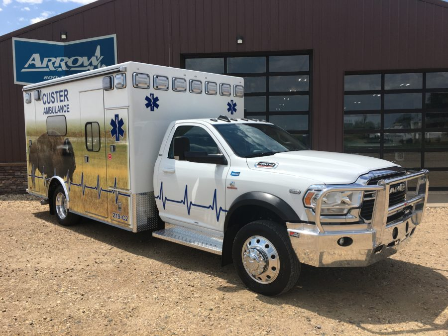 2020 Ram 4500 Heavy Duty 4x4 Ambulance delivered to Custer Ambulance Service in Custer, SD