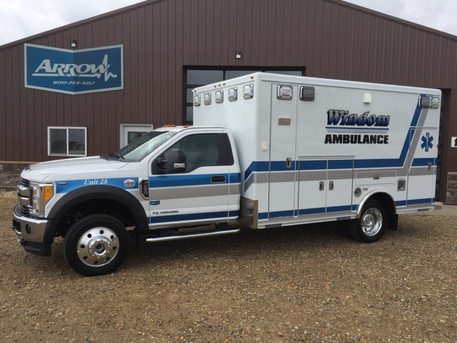 2017 Ford F450 Heavy Duty 4x4 Ambulance delivered to Windom Ambulance Service in Windom, MN