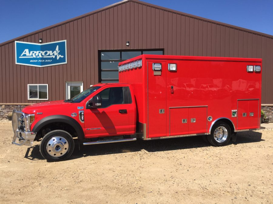2019 Ford F450 Heavy Duty 4x4 Ambulance delivered to Shickley Fire & Rescue in Shickley, NE
