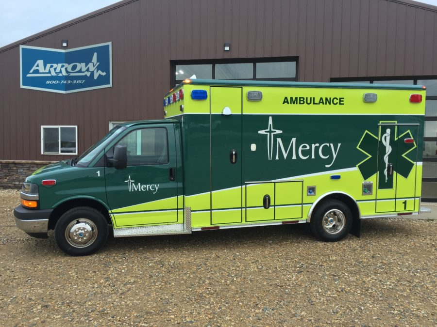 2016 Chevrolet G4500 Type 3 Ambulance delivered to Mercy Medical in West Des Moines, IA