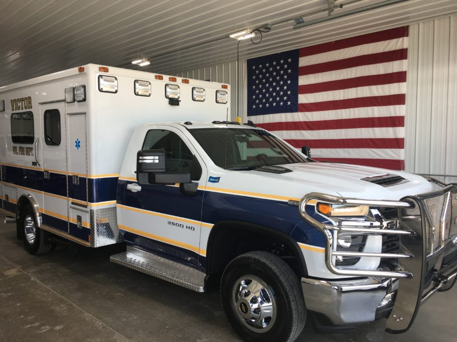 2021 Chevrolet K3500 Type 1 4x4 Ambulance delivered to Victor Volunteer Fire Department in Victor, MT