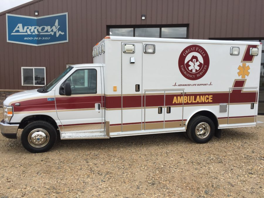 2017 Ford E450 Type 3 Ambulance delivered to Great Falls Emergency Services in Great Falls, MT