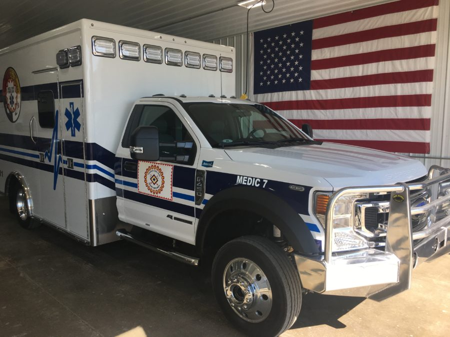 2020 Ford F450 Heavy Duty 4x4 Ambulance delivered to Rosebud Ambulance in Rosebud, SD