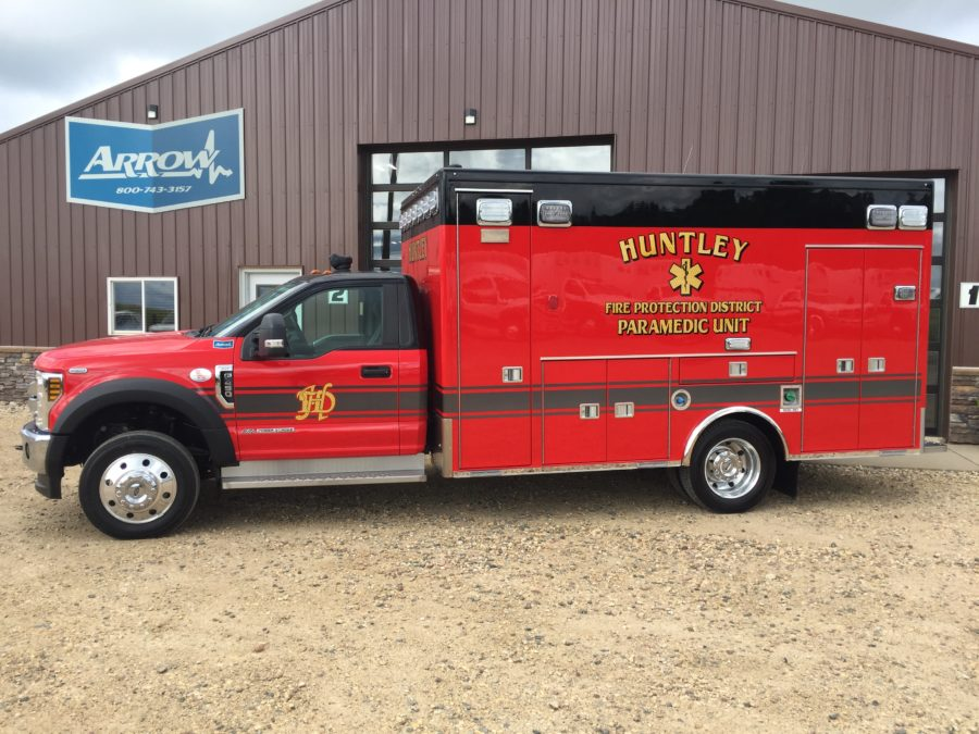2019 Ford F450 Heavy Duty Ambulance delivered to Huntley Fire Protection District in Huntley, IL