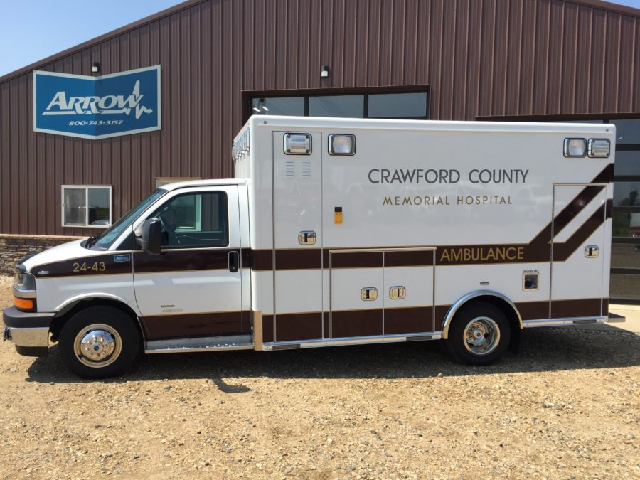 2018 Chevrolet G4500 Type 3 Ambulance delivered to Crawford County Memorial Hospital in Denison, IA