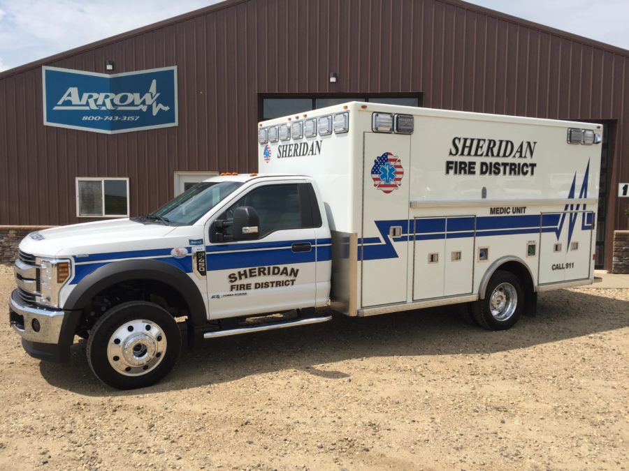 2018 Ford F450 Heavy Duty 4x4 Ambulance delivered to Sheridan Fire District in Sheridan, OR