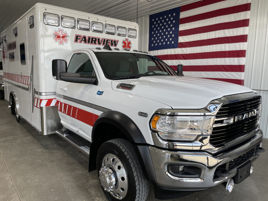 2021 Ram 5500 Heavy Duty 4x4 Ambulance delivered to Fairview Fire and Rescue in Fairview, NC