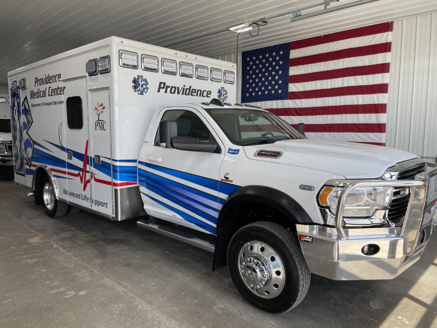 2020 Ram 4500 Heavy Duty 4x4 Ambulance delivered to Providence Medical Center in Wayne, NE