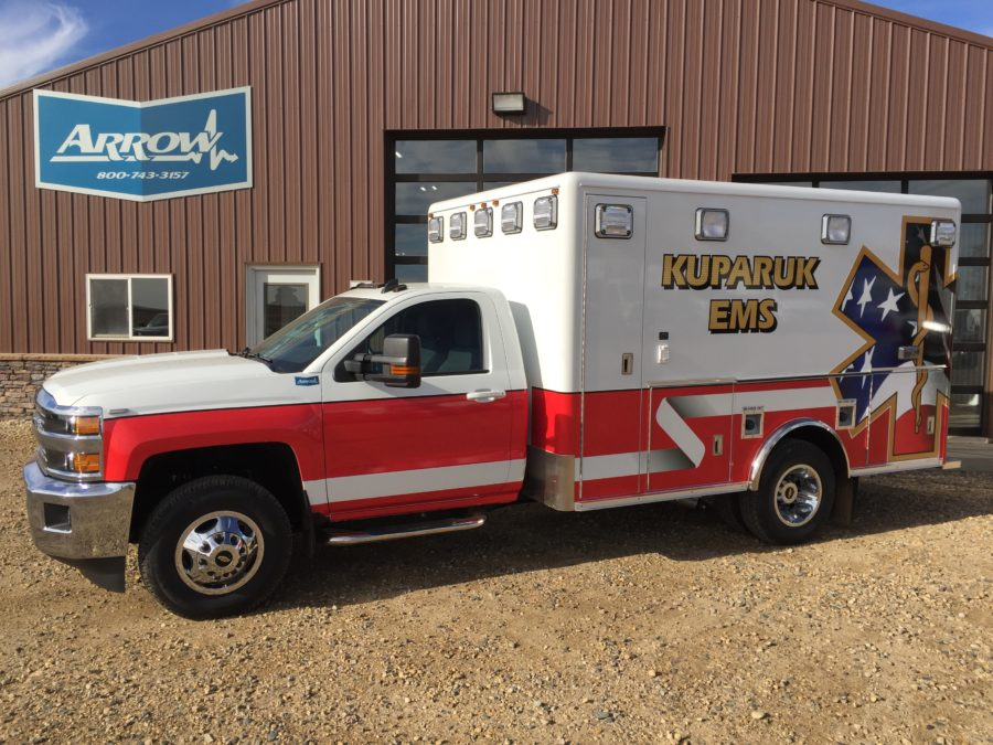 2016 Chevrolet K3500 Type 1 4x4 Ambulance delivered to Kuparuk Fire Department in Kuparuk, AK