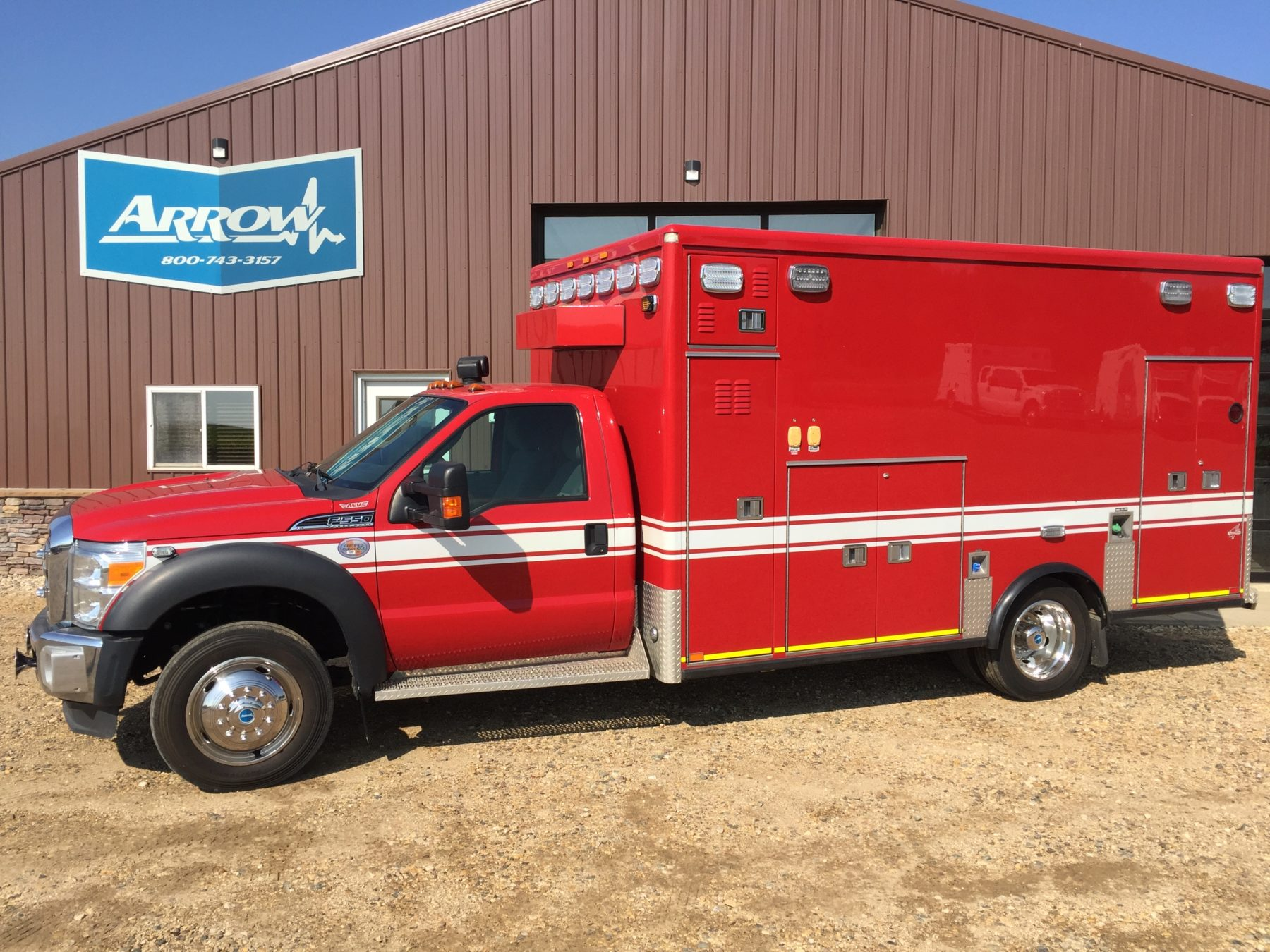 Truck # 79870 - 2012 Ford F550 4x4 Heavy Duty AEV Ambulance