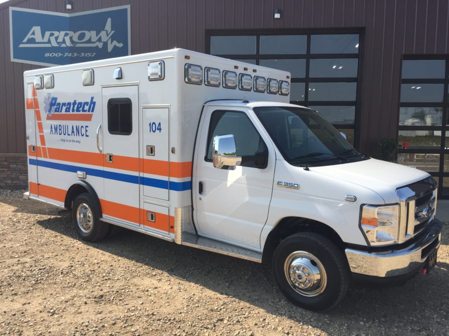2017 Ford E350 Type 3 Ambulance delivered to Paratech Ambulance Service in Milwaukee, WI