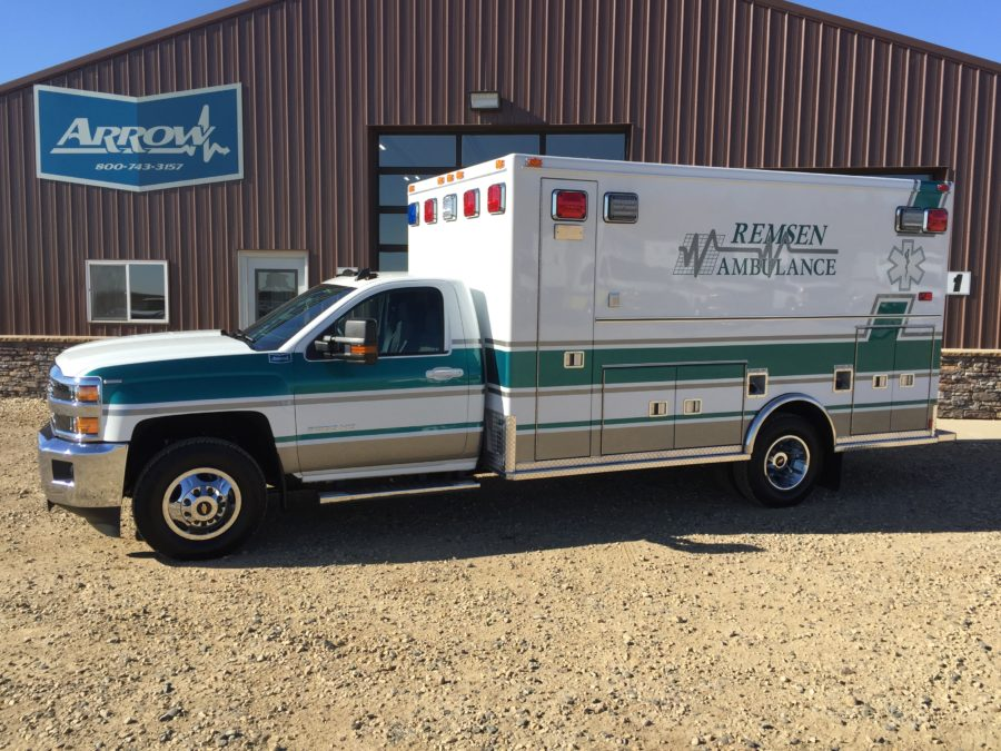 2016 Chevrolet K3500 Type 1 4x4 Ambulance delivered to Remsen Ambulance Service in Remsen, IA