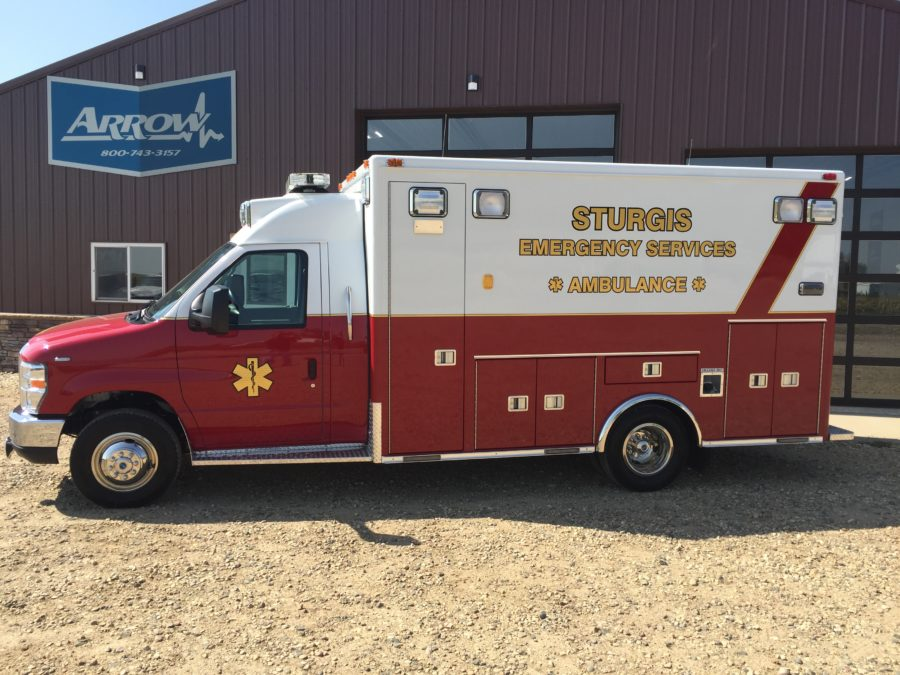 2017 Ford E450 Type 3 Ambulance delivered to Sturgis Emergency Services in Sturgis, SD
